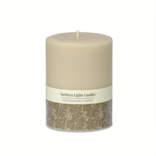 Northern Lights Candles - 3X4 Pillar-Sandstone