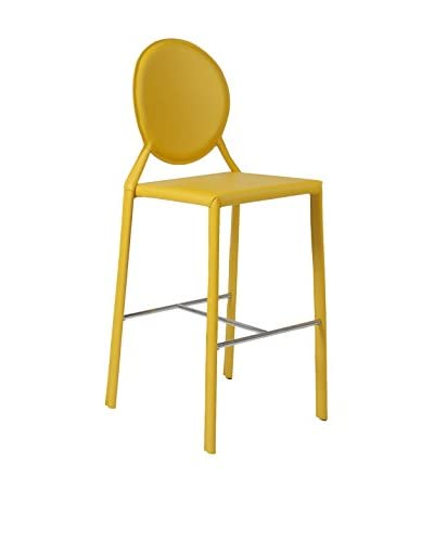 Eurostyle Isabella Bar Stool, Yellow