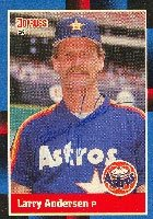Larry Anderson Houston Astros 1988 Donruss Autographed Hand Signed Trading Card. by Hall+of+Fame+Memorabilia