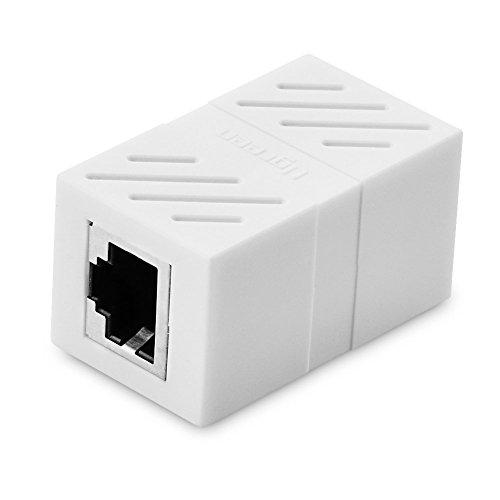 Connecteur Ethernet, Ugreen Cat6 Coupleur Ethernet Femelle à Femelle Réseau RJ45 8P8C, Blanc