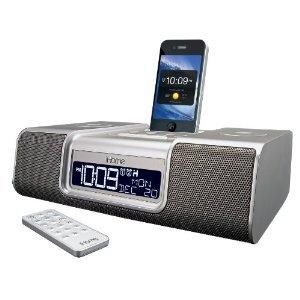 iHome iA9SZC App-Enhanced Dual Alarm Clock Radio for iPhone/iPod with AM/FM presets (Silver)
