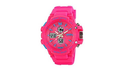 Pink Watches For Kids Girls Digital 2 Time Zone Watches Kids Boys