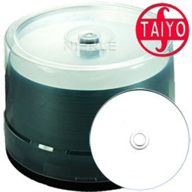 JVC-Taiyo Yuden CD-R 80 min/700 MB 48x, Full printable White WaterShield, 50 Stück in Cakebox