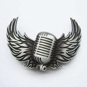 New Radio Wing Microphone Music Clasicc Belt Buckle !!