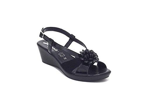 Susimoda scarpa donna, modello sandalo 250824, in camoscio, colore nero