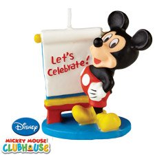 Disney Mickey Mouse Birthday Candle - 1
