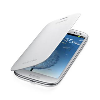 Samsung OEM Flip Folio Case Cover for Samsung Galaxy S3 (all versions) - White