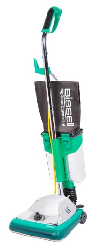 """Bissell Biggreen Commercial Bg101Dc Procup Comfort Grip Handle Upright Vacuum With Magnet, 870W, 12"""" Vacuum Width"""