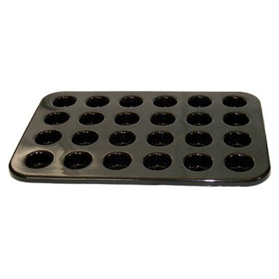 Non stick silicone 24 mini canape and tartlet tray for Canape trays uk