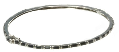 Beautiful 925 Sterling Silver Ladies Bangle with Sapphire - 8cm*2mm, 10 Grams