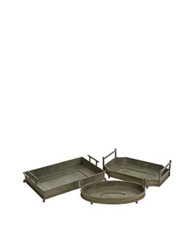 Set of 3 Cki Silvine Iron Trays