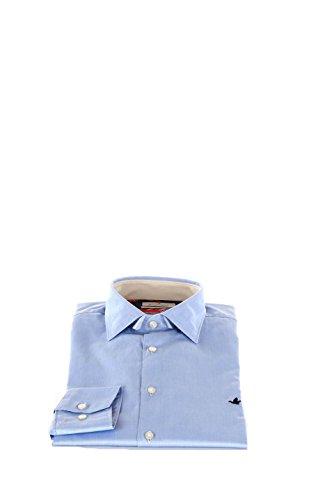 Camicia Uomo Brooksfield 42 Azzurro 202a.q028 Primavera Estate 2016