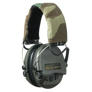 MSA Sordin Supreme Pro X with CAMO Headband and Aux Input