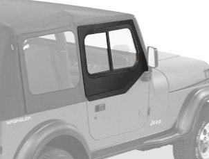Bestop 51785-15 Black Denim Upper Door Slider Set For 88-95 Wrangler Yj