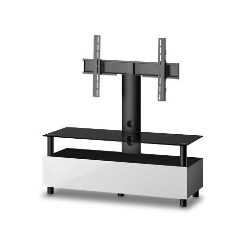 Sonorous Neo Troy Cantilever TV Stand for Up to 50 inch TVs - White