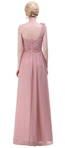BISLU-Flowers-One-Shoulder-Long-Prom-Evening-Party-Bridesmaids-Dress