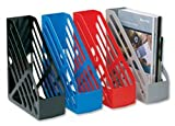 5 Star Magazine Rack File Foolscap Blue