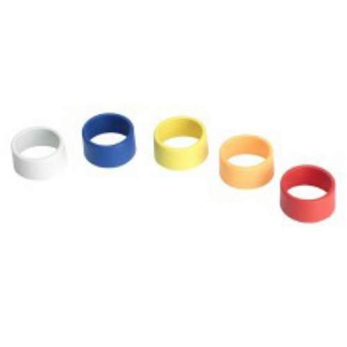 Shure WA615M Colored Handheld Transmitter ID Rings for T, UT, LX, ULX, UC (One Each: Blue, Red, Yellow, White, Orange)