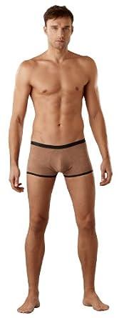 Magic Silk Men's Sexy Stretch Suede Mini Short Underwear in Mocha at Sears.com