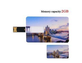 2G Ultra-Slim Model Of The London Bridge Shaped Usb Flash Disk Drive