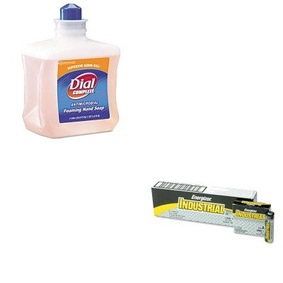 KITDPR00162EVEEN91 - Value Kit - Dial Antimicrobial Foam Hand Soap (DPR00162) and Energizer Industrial Alkaline Batteries (EVEEN91)