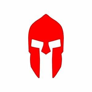 spartan helmet logo sticker