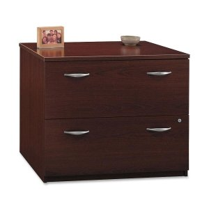 Bush Industries Wc36754Su 2-Drawer Lateral File, 35-3/4 In.X23-3/8 In.X29-7/8 In., Mahogany