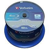 Verbatim 43773 BD R 25GB 6X LTH Branded 50pk (43773)