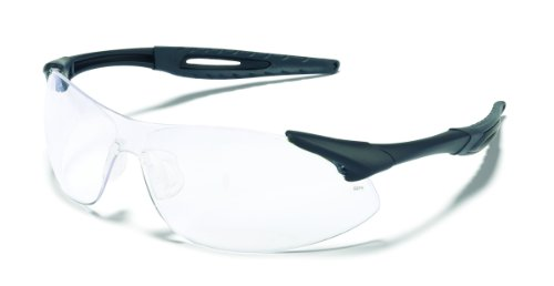 Mcr Safety Ia110Af Inertia Polycarbonate Safety Glasses With Black Frame And Clear Anti Fog Lens