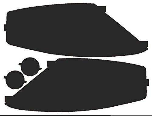 Precut Vinyl Tint Cover for 2003-2006 Hyundai Tiburon Headlights (20% Dark Smoke) (03 Tiburon Headlight Assembly compare prices)