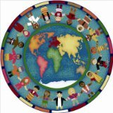 Joy Carpets Kid Essentials Early Childhood Round Hands Around The World Rug, Multicolored, 13'2""
