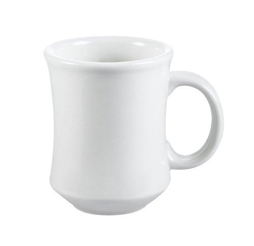 CAC China PM-7-W 7-Ounce Stoneware Round Mug, 3-1/4-Inch, American White, Box of 36