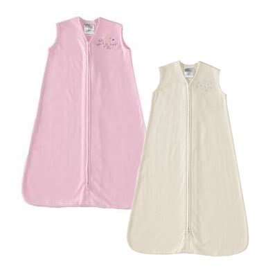 HALO Sleepsack 100% Cotton Wearable Blanket, Soft Pink & Cream, X-Large, 2-Pack - 1