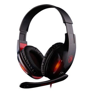 Andget Sades Sa-804 3.5Mm Stereo Headphone Gaming Headset With Microphone 40Mm Driver Black