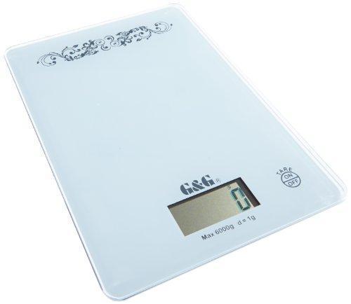 G&G KH6000-W Balance de précision numérique 1 g / 6000 g Blanc