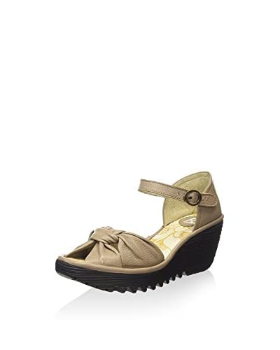 FLY London Keil Sandalette beige