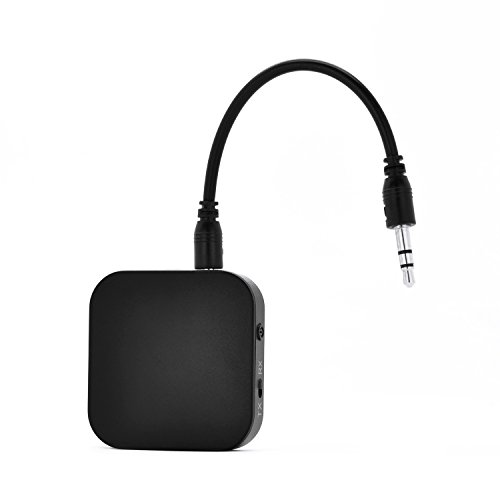 Bluetooth 4.1 Transmitter and Receiver, VRunow Portable Wireless Adapter/Kit with 3.5mm Stereo Output for Headphone,Speakers,TV,PC,MP3/MP4,Car Stereos(APTX Low Latency,A2DP,12 Hours Playtime) (Wireless Adapter For Direct Tv compare prices)