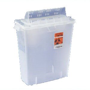 In-Room Sharps Container 12 Quart Transparent Red [Case Of 10] front-293318