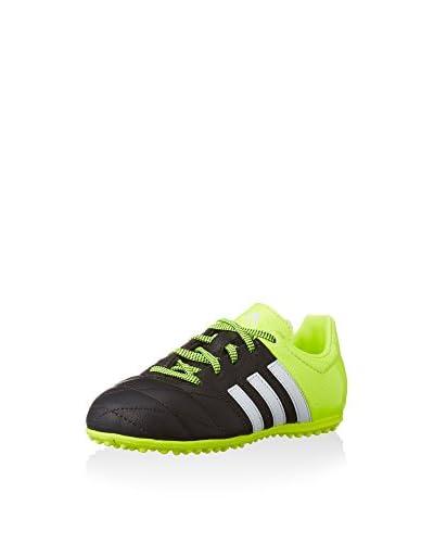 adidas Zapatillas de fútbol ACE 15.3 TF J Negro / Lima / Blanco