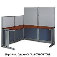 ** L-Workstation (Box 1 of 2) Office-in-an-Hour Hansen Cherry **