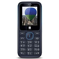 iball Crown2 with LED Torch Mobile Phone (Black+Blue)