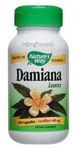 Damiana Leaves 400 mg 100 Capsules by Nature's Way