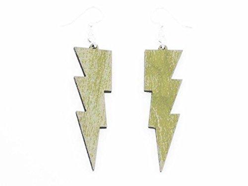 [Thunder Lightning Bolts Wooden Earrings Jewelry Customize] (Thunder Lightning Costume)