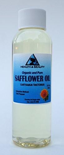 Safflower Oil Organic Carrier High Oleic Cold Pressed Premium 100% Pure 2 oz