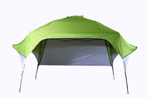 Fast Set Wing Canopy  Adjustable Rear Wall (Green,