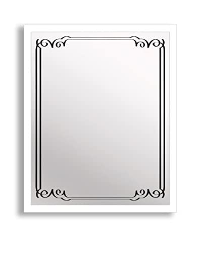 Gallery Direct Art Deco II Print on Mirror, Multi, 20 x 16