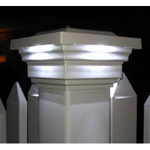 Regal Solar Post Lantern Head Color: White