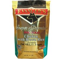 Evanger's Super Premium Dog Food Chicken with Brown Rice 4.4 lbs