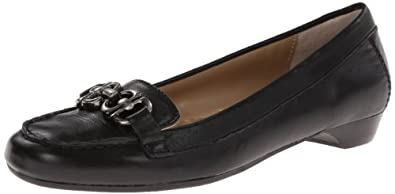 Adrienne Vittadini Footwear Women's Chitown Slip-On Loafer,Black,6 M US