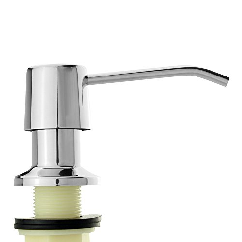 Seafulee SUS 304 Stainless Steel Sink Soap Dispenser (Polished Finish) - Large Capacity 17 OZ Bottle - Easy Installation - Well Built and Sturdy (Undermount Kitchen Soap Dispenser compare prices)